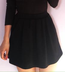 Crna duboka suknja