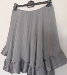 Siva cigovana suknja Italy EKLE