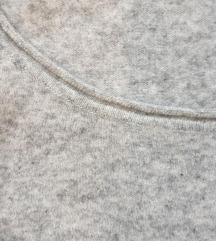 Benetton sivi vuneni džemper