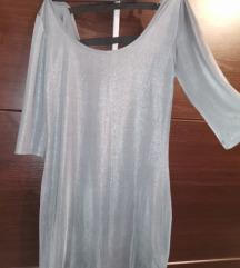 Elegantna haljina sa diskrwtnim strasom NOVO