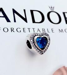 Pandora Heart Love Blue  srebro ale s925
