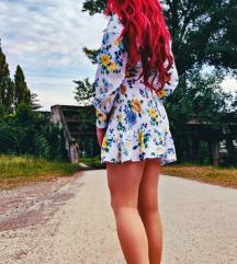 💛 Zara cvetna haljina 💚