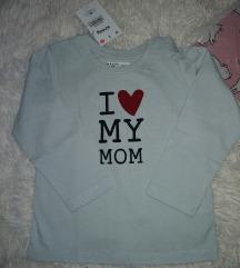 Majica dugih rukava za bebe ETIKETA