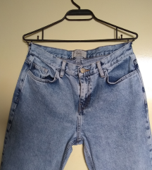 NEW LOOK straight high waisted washed blue jeans