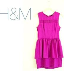 Elegantna H&M ljubicasta peplum haljina