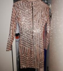Nova haljina S, M mini sa rukavima