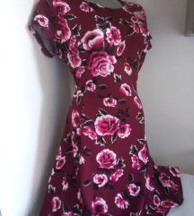 Bordo haljina sa ruzama M