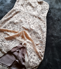 Nude cipkana top haljina