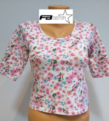 FB SISTER crop top cvetna majica M