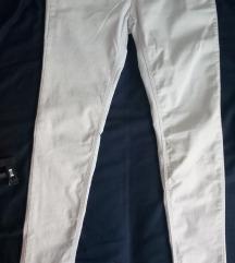 Zara bele uske pantalone S 36