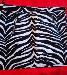 Zebra print mini suknja