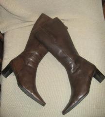 Bata braon kožne čizme