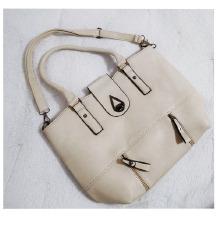 •••Krem torba sa etiketom•••