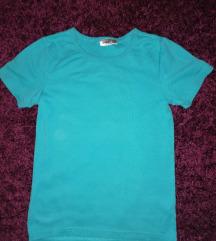 Plava majica na kratke rukave