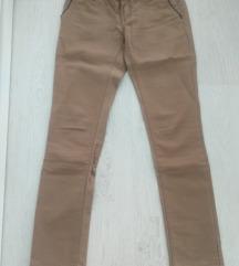 Krem skinny pantalone