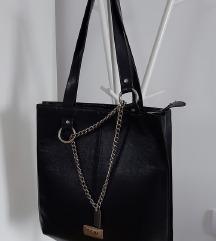MONA crna torba od kože