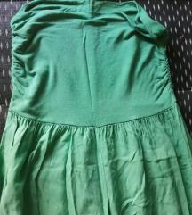 Zelene boho pantalone