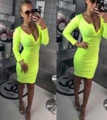 Nova nenošena neon haljina