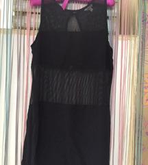 Crna duga majica/haljina / providno / snizenje