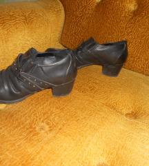 Kozne crne cipele duboke