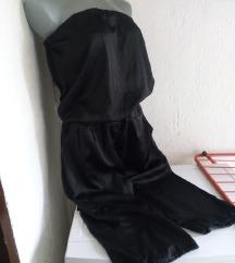Yisili crni svileni kombinezon S