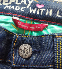 ♫ ♪ ♫ REPLAY blue jeans 100% cotton NOVO