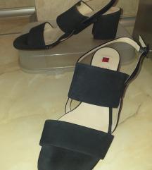 %HOGL Crne antilopske sandale 6 1/2(26)-NOVO