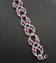 Narukvica u roze i beloj boji