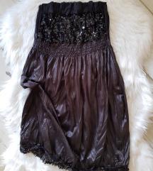 Crna top haljinica m