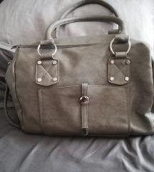Siva kožna torba