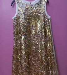 H&M haljinica zlatna vel 134