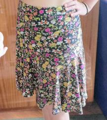 Sarena cvetna suknja do kolena