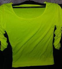 Drecavo zelena bluza sa naboranim rukavima