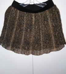 Plisirana suknja animal print