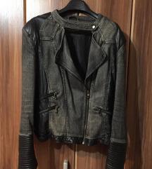 Crna denim jaknica