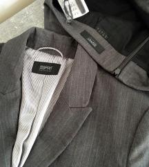 Sivo odelo ESPRIT (sako+suknja)