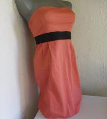 Terranova roze crna top haljina S