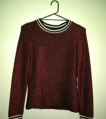 Crvena šljokičasta majica