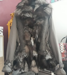 Kor Kor zimska jakna-prirodno krzno rakun