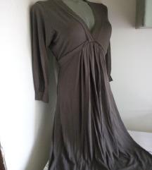 Zara siva dekoltovana haljina S