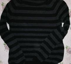 Džemper bluza Calliope sivo-crni