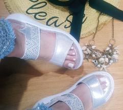 Sandale srebrne AKCIJA