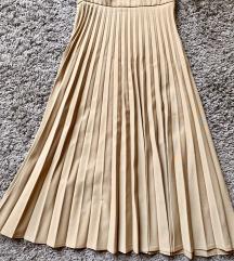 Stradivarius plasirana suknja
