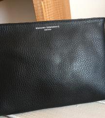 Dragana Ognjanović crna kožna torbica, etiketa