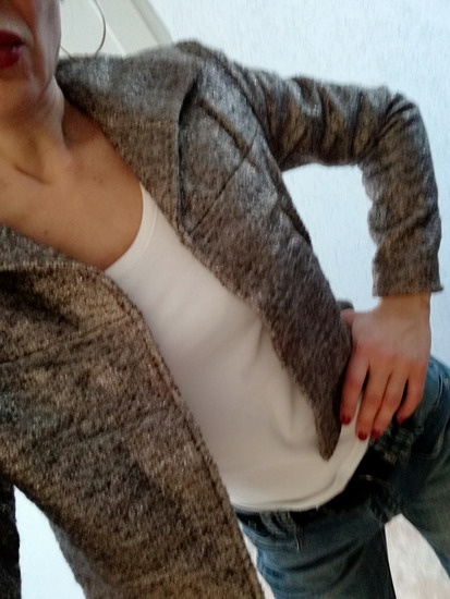 Kratka srebrna jakna, za proleće