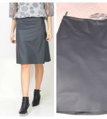 Novo! PS fashion faux leather high waisted suknja