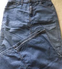 Duga teksas suknja
