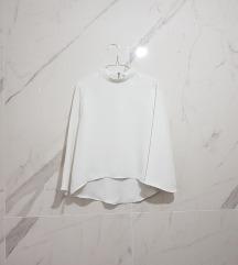 Zara high neck bluza sa zvonastim rukavima