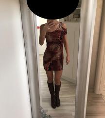 Sexy haljina + poklon prsluk od krzna