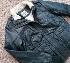 👑C&A👑odlična jakna sa krznom, eko koza✔️